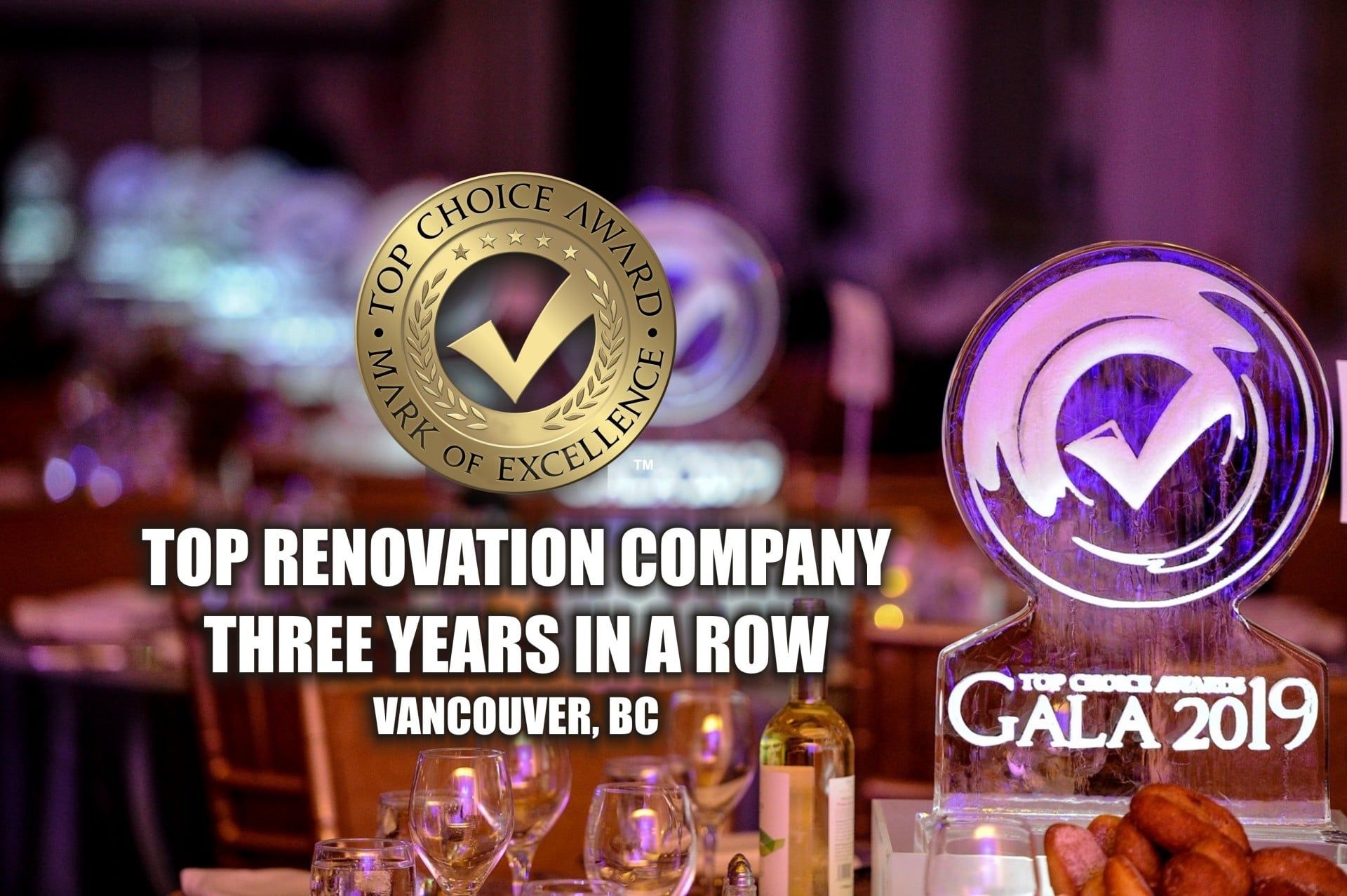 Top Renovation Company 3 years in a row