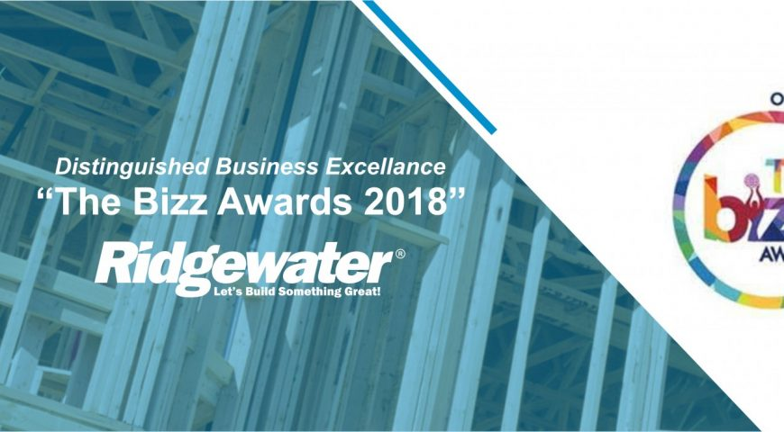 Ridgewater Homes is awarded with THE BIZZ for its distinguished business excellence