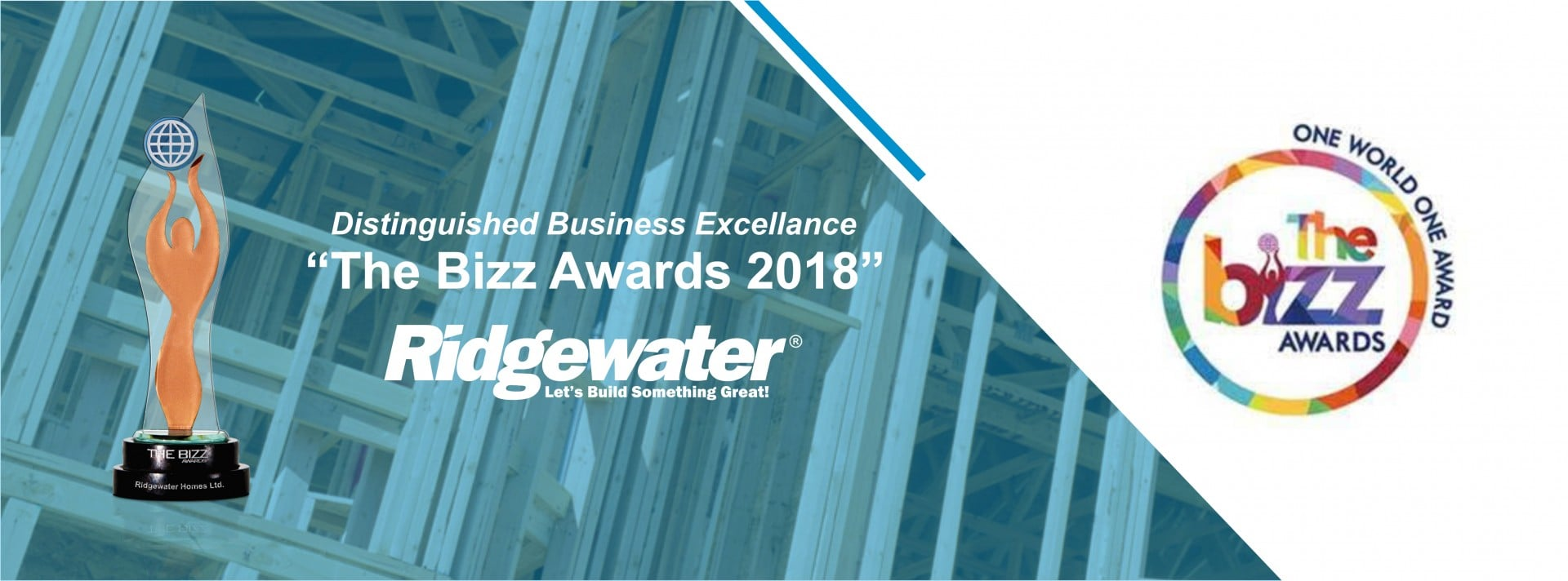 Ridgewater Homes is awarded with THE BIZZfor its distinguished business excellence