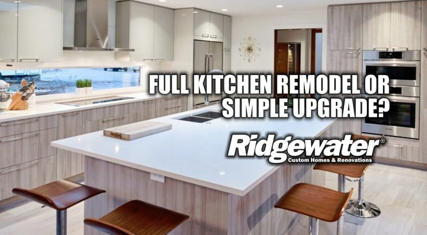 FULL KITCHEN REMODEL OR SIMPLE UPGRADE?